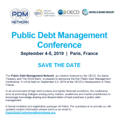 pdm homesave the date join the public debt management conference in paris on september 4 5,